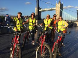 Posing with the other members of my group in front of Tower Bridge. , Shannon F - August 2017