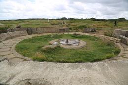 German cannon base at Pointe du Hoc. , John C - September 2012
