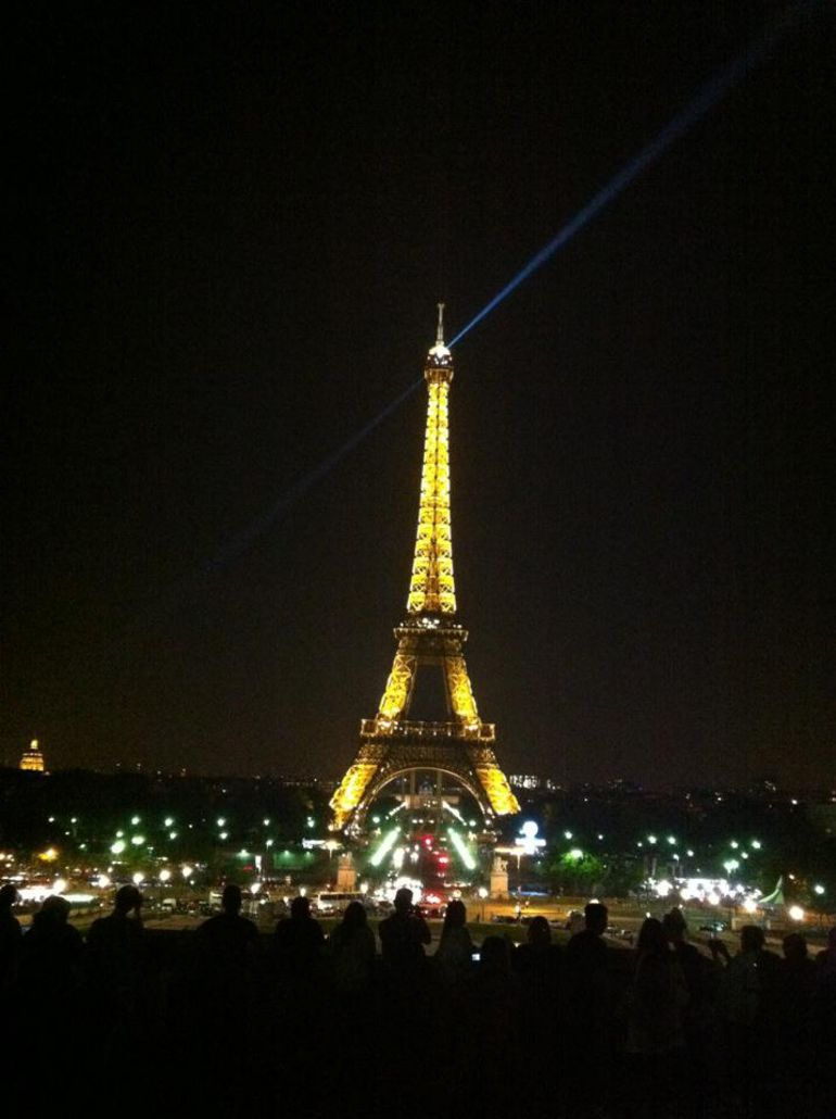 A romantic photo of the Eiffel Tower from the Trocadero - Paris