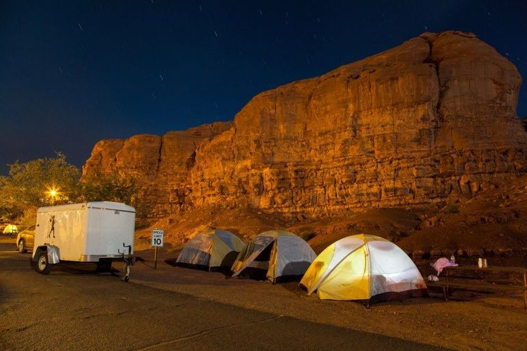 Camping at Monument Valley - Utah