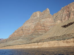 Looking up at the West Rim from the Colorado River , Nana - November 2012