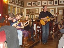 The wonderful musicians at the Irish House Party on 14 November 2008., Cynthia S - November 2008