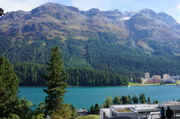 Taken from close to the train stop in St Moritz , Jill G - October 2012