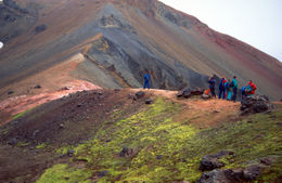 Walking in the colorful volcanic landscape of Landmannalaugar - December 2011