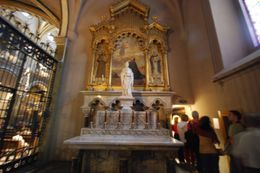 Every step forward to see the black Madonna affords you a leftmost glimpse into the main Basilica and countless beautiful small worship rooms., Theresanne S - July 2009
