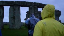 Walking towards Stonehenge - August 2011