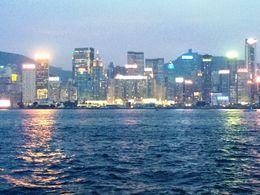 Hong Kong as dusk falls , Jill B - August 2014