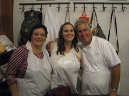 The three of us in our plastic aprons. - September 2008