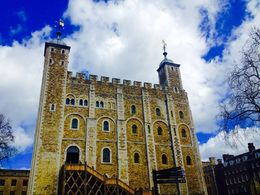 Beautiful blue skies above the famous White Tower , Janice P - April 2016