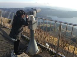 checking out the view at mount komagatake - pix taken by nmv , Norbertson V - January 2017