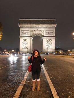 Arc de Triomph , Maria - January 2017