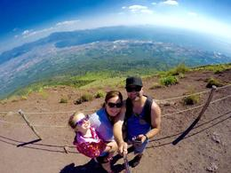 Top of Mt. Vesuvius - view was Gorgeous! , Katelyn - January 2017