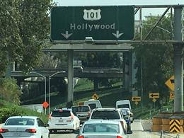 Driving into Hollywood from Anaheim , Amy C - September 2017