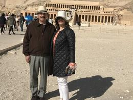 Sohail and Lubna at Temple of Hatshepsut , colsohail - December 2017