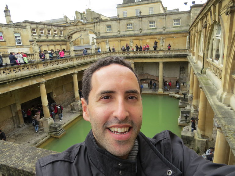 A visit to the Roman Baths in Bath - England