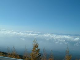 View of clouds from Mt Fuji observation point. - November 2007