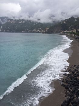 Beach along the coastal road leading into the town of Amalfi. , Pamela P - August 2015