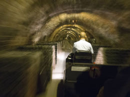 At the bottom level you board a tram to tour the caves (which contain about 4 million bottles) , David P - November 2012