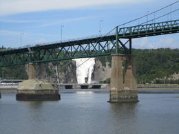 View of falls through the bridge , Diana D - August 2015