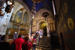 Here, the waiting visitors begin their ascent into corridors that will leave you in awe as you almost wish the line would slow in its movement. Paintings, stained glass, statues, marbling, ... , Theresanne S - July 2009