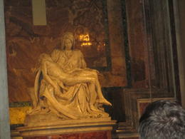 Michelangelo's Pieta inside St. Peter's Basilica. , Mary S - October 2016