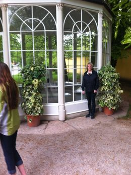 Cheryl at the famous gazebo , John P - May 2014
