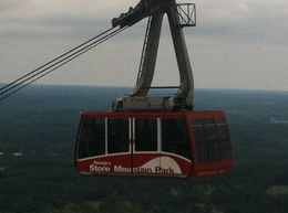 Cable car. This is a must do. It offers a great view of Stone Moubtain , Josee - April 2012