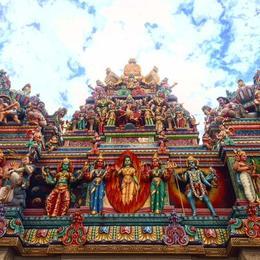 Detail from Sri Veeramakaliamman Temple Little India , Eike K - November 2017