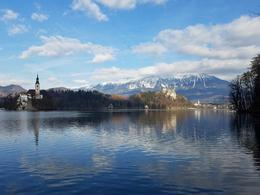 The view from the edge of Lake Bled. , Mandi - November 2017