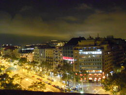 Barcelona by night from the rooftop , andrew m - October 2012