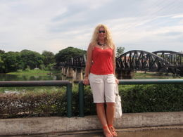 Marilyn with the bridge in the background. , marilyn f - July 2011