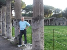 Me standing in the gladiator area behind the amphitheater., Doug M - February 2008