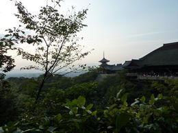 Stunning view of Kyoto by Kiyomizu Shrine, Karen A - October 2009