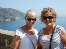 Deb and Cindy at Cinque Terre , Cynthia W - August 2015