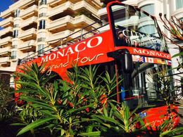 Monaco ... Le Grande Tour bus at its first stop , Bev Chislett - January 2016