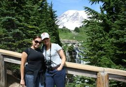 Monet Shannon and Stacey McHenry at Mount Rainier , Stacey M - October 2013