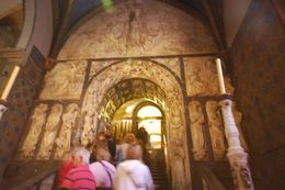 The entire wall -- one leading to the black Madonna -- is filled with carvings of honorable people, animals, flora and fauna all conveying their own particular story., Theresanne S - July 2009