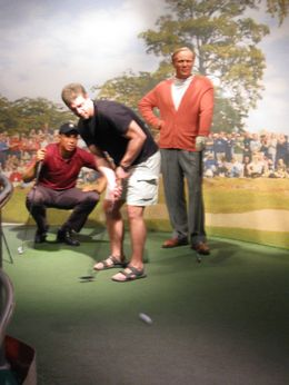 Madame Tussaud's was a fun, interactive time. I took this shot of my boyfriend in the sports section., H C S - April 2009