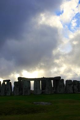 Stonehenge reappearing from the shadow of the storm , Sylvia R - December 2016