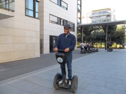 Alan is learning to ride his segway. What a blast! , Peggy C - October 2012