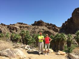 Hiking the San Andreas Canyon trail past the real source of the name Palm Springs. Desert Oasis. We loved the tour! , Barbara A H - September 2016