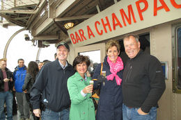 Of course we enjoyed the Bar Champagne at the top! We are actually from Champaign, Illinois in the USA! Cheers! , Kristin C - May 2013