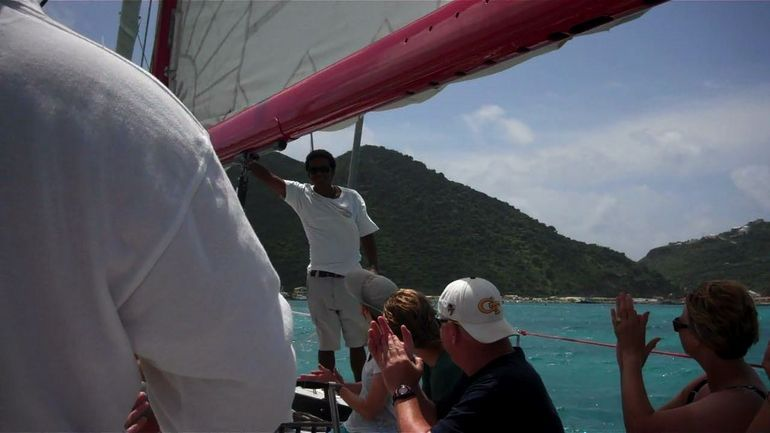 Crew on the 12 Metre Challenge - Philipsburg