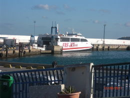 This was the boat we took from Tarifa to Tangier. , Shalette - January 2012
