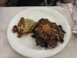 Fried Artichokes - the thing to eat in the Jewish Ghetto , Samara K - June 2013