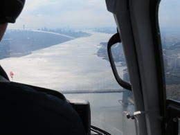 View back down the Hudson River from above the George Washington bridge , DAVID B - January 2015
