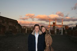 Beautiful sunset at the end of our Pompeii tour. , Stephen S - January 2012