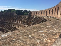 A view from the upper tier of the the colosseum or Flavian Amphitheatre , Michael M - June 2016