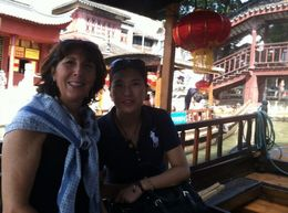 Me and our private tour guide in the Water Villages of Zhujiajiao. , Matthew R - October 2013