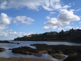 Spectacular views of the town from the beach., Amber L - September 2010